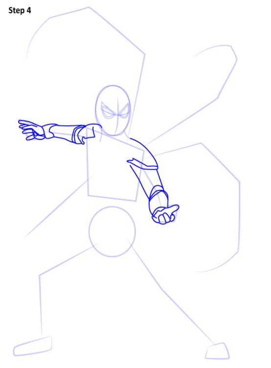 Как нарисовать Железного паука 4