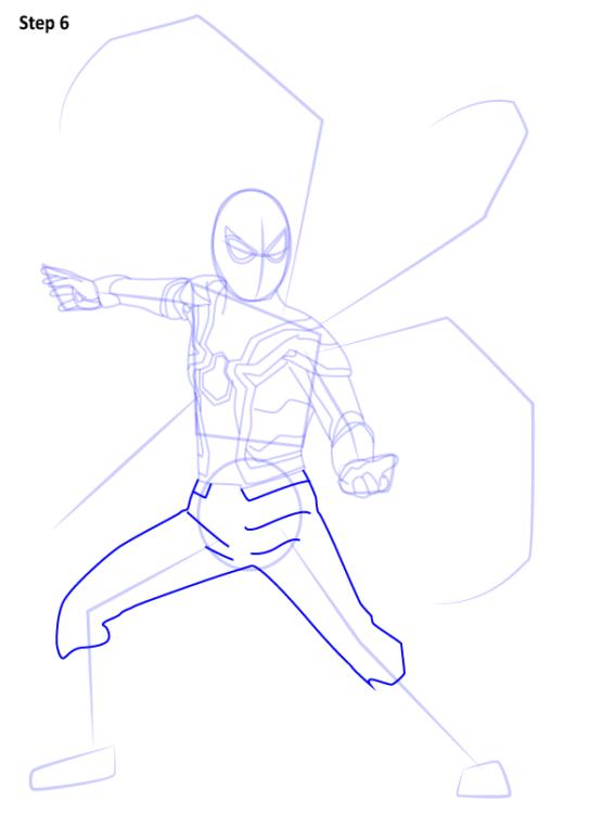 Как нарисовать Железного паука 6