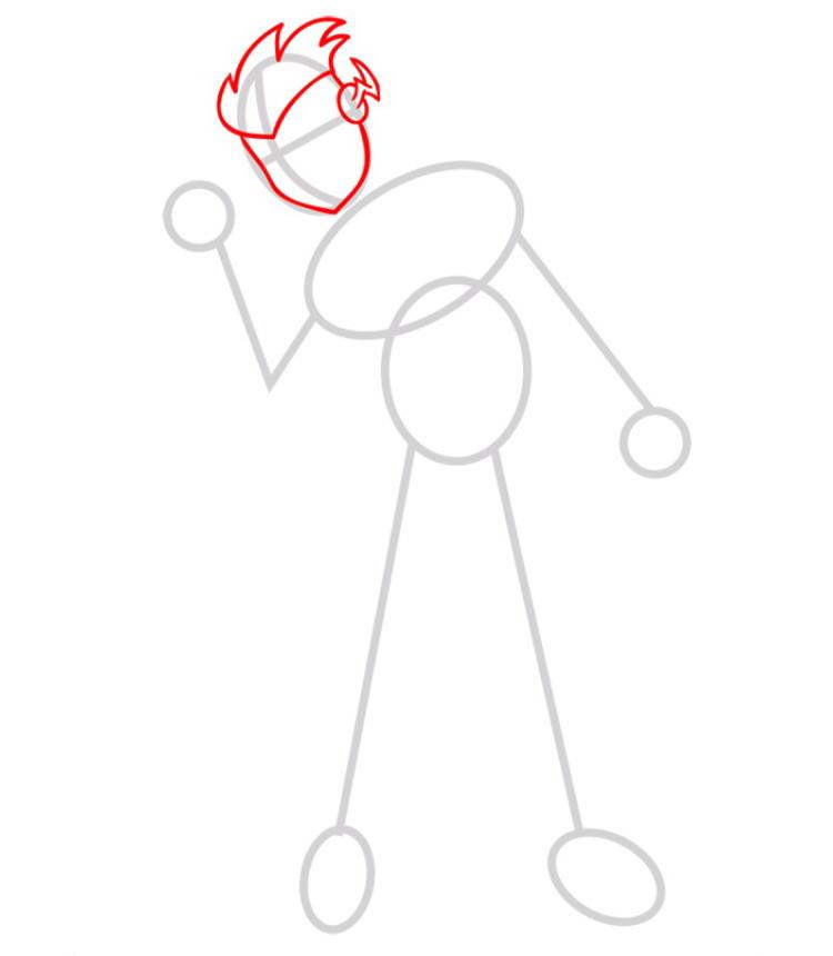 Как нарисовать Кид Флеша 2