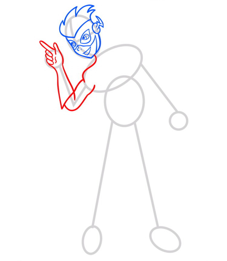 Как нарисовать Кид Флеша 4