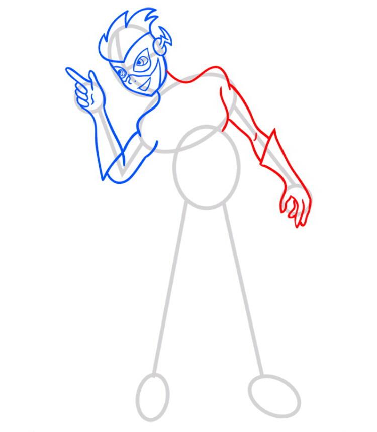 Как нарисовать Кид Флеша 5