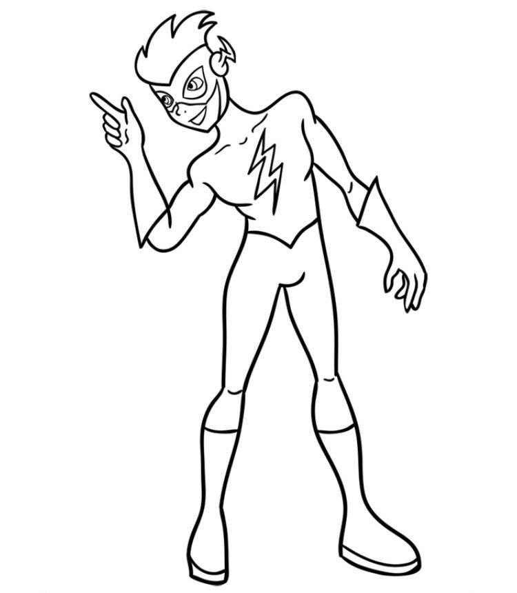 Как нарисовать Кид Флеша 9