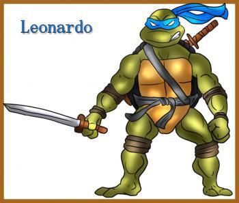 Как нарисовать Леонардо черепашку 6