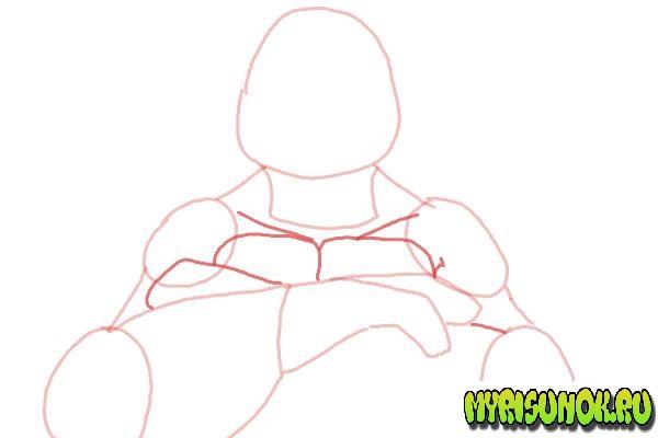 Как нарисовать Леонардо черепашку 05