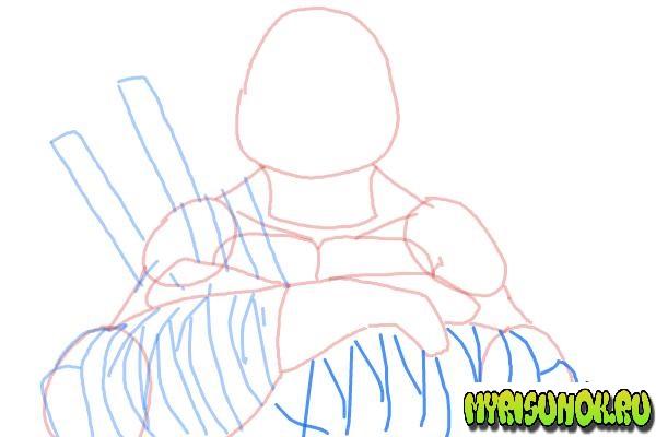 Как нарисовать Леонардо черепашку 08