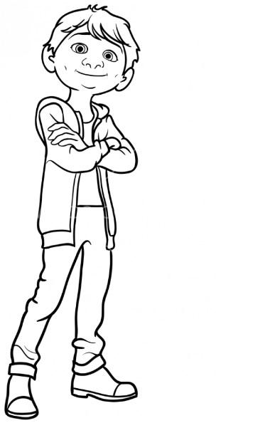 Как нарисовать Мигеля из Тайна Коко 11