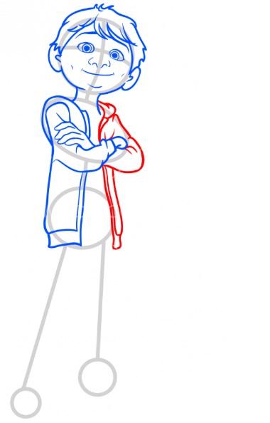 Как нарисовать Мигеля из Тайна Коко 7