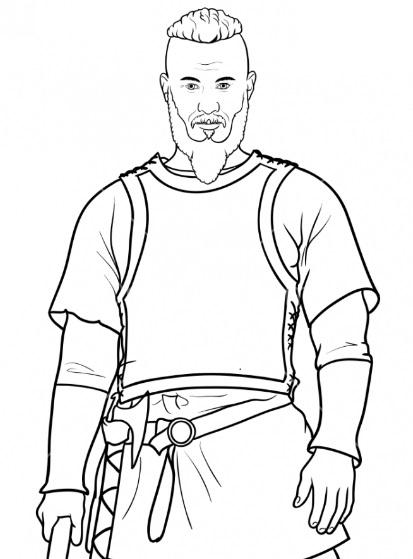 Нарисовать Рагнара Лодброка 10