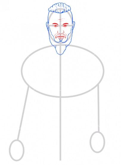 Нарисовать Рагнара Лодброка 4