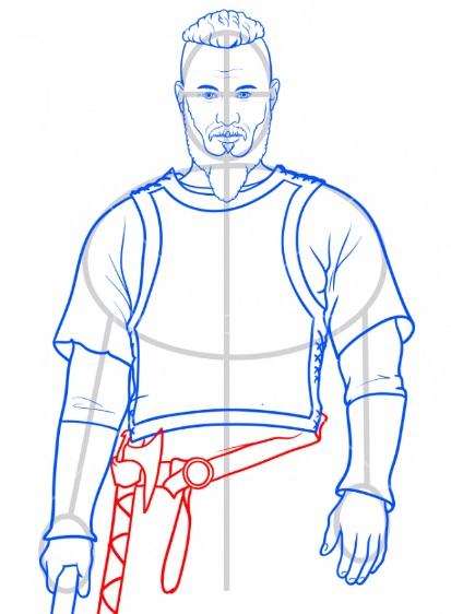 Нарисовать Рагнара Лодброка 8