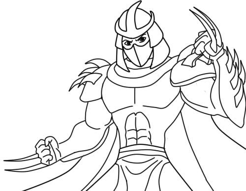 Как нарисовать Шреддера из черепашек10