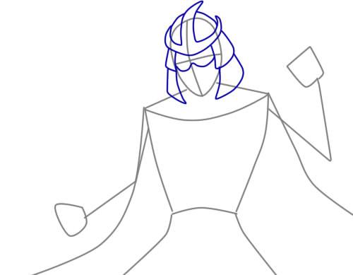 Как нарисовать Шреддера из черепашек2