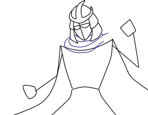 Как нарисовать Шреддера из черепашек3