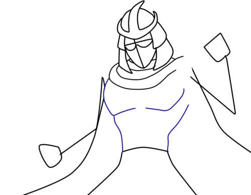 Как нарисовать Шреддера из черепашек4