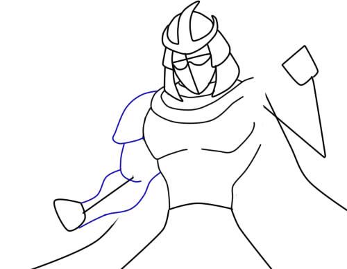 Как нарисовать Шреддера из черепашек5