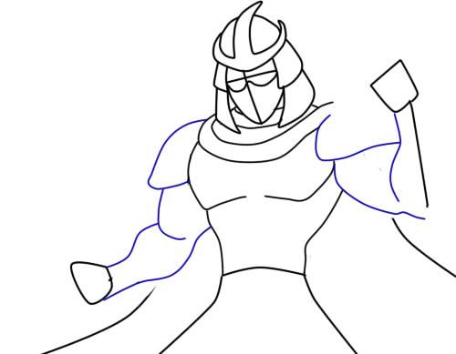 Как нарисовать Шреддера из черепашек6