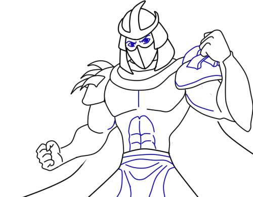 Как нарисовать Шреддера из черепашек8