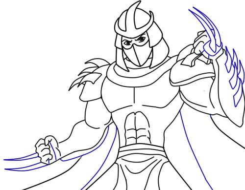 Как нарисовать Шреддера из черепашек9