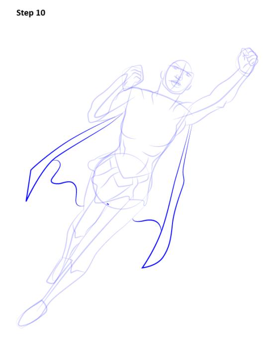 Как нарисовать Супергерл10