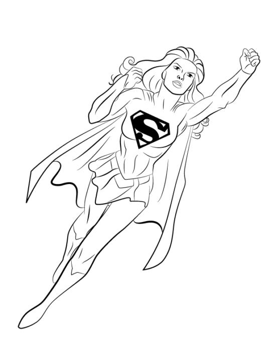 Как нарисовать Супергерл14