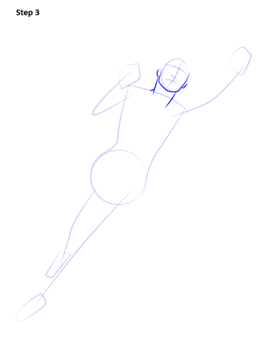 Как нарисовать Супергерл3
