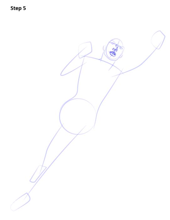 Как нарисовать Супергерл5