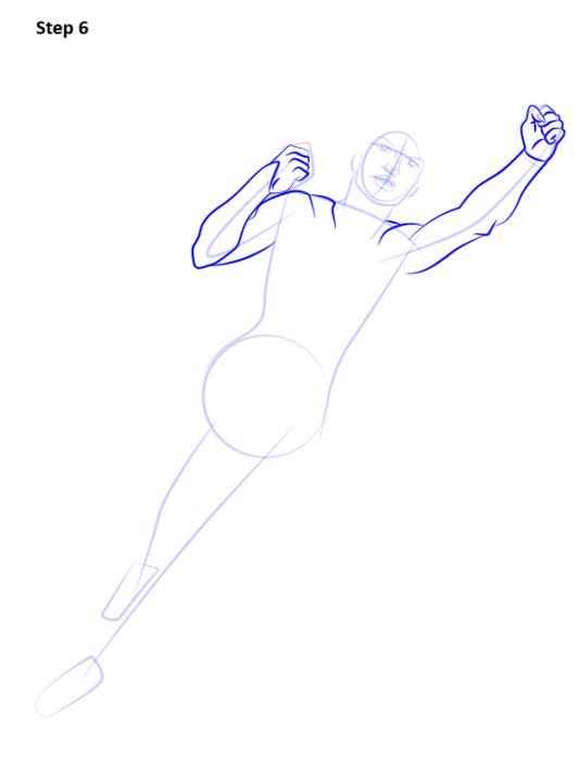 Как нарисовать Супергерл6