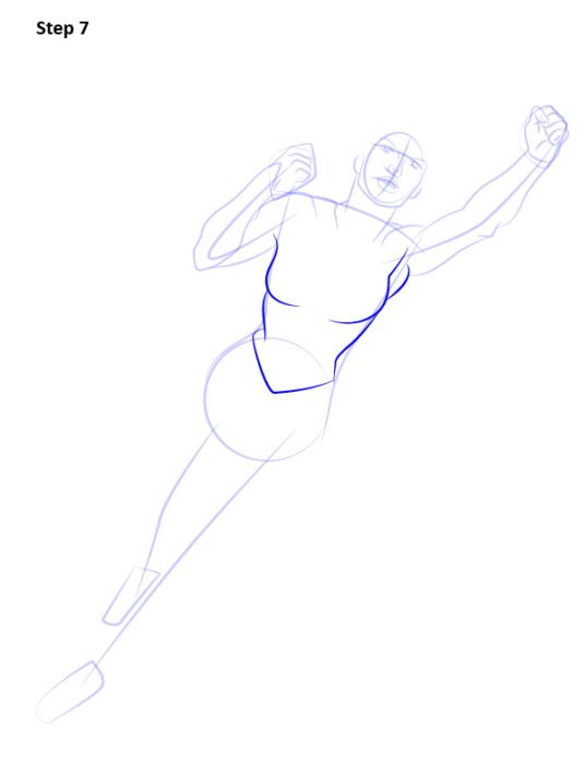 Как нарисовать Супергерл7