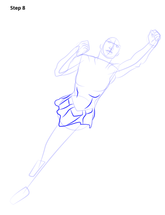 Как нарисовать Супергерл8