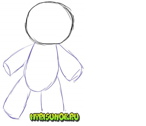 Как нарисовать куклу Вуду2