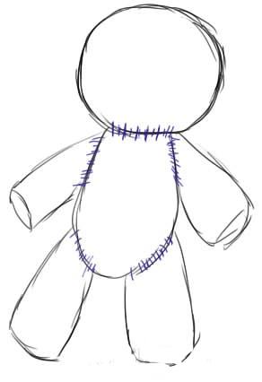 Как нарисовать куклу Вуду3