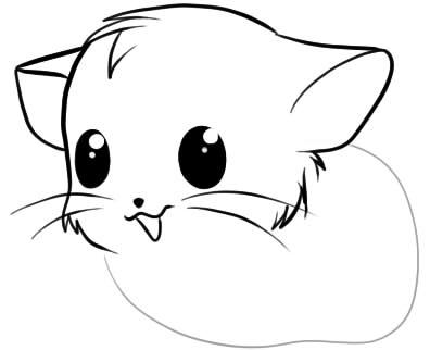 Как нарисовать хомяка3