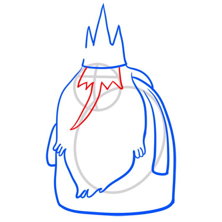 Как нарисовать Ледяного короля из Время приключений 6