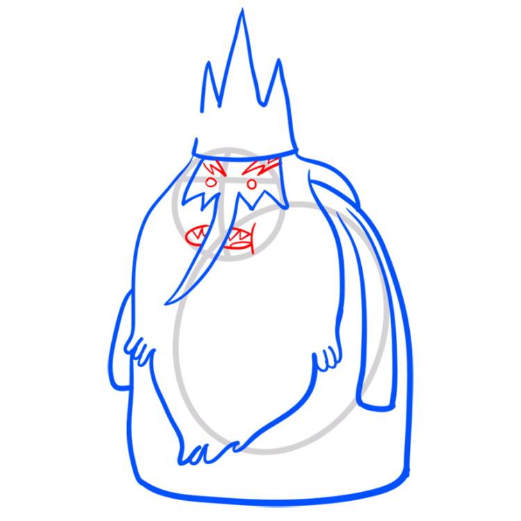 Как нарисовать Ледяного короля из Время приключений 7