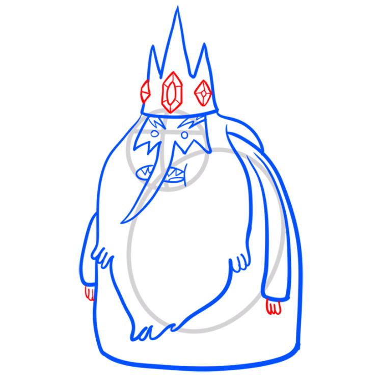 Как нарисовать Ледяного короля из Время приключений 8