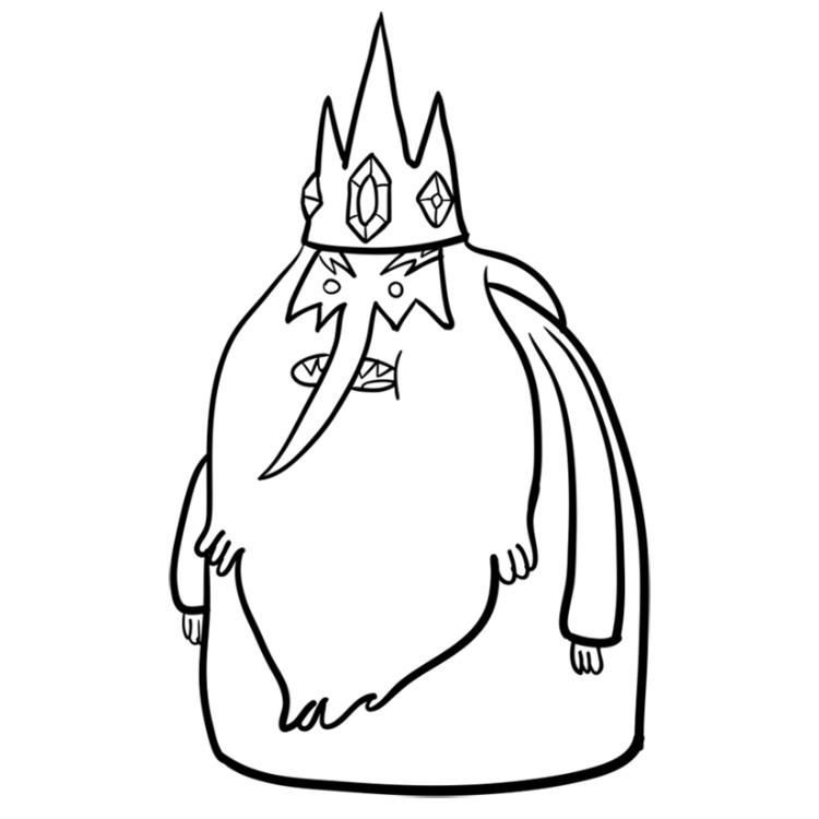 Как нарисовать Ледяного короля из Время приключений 9