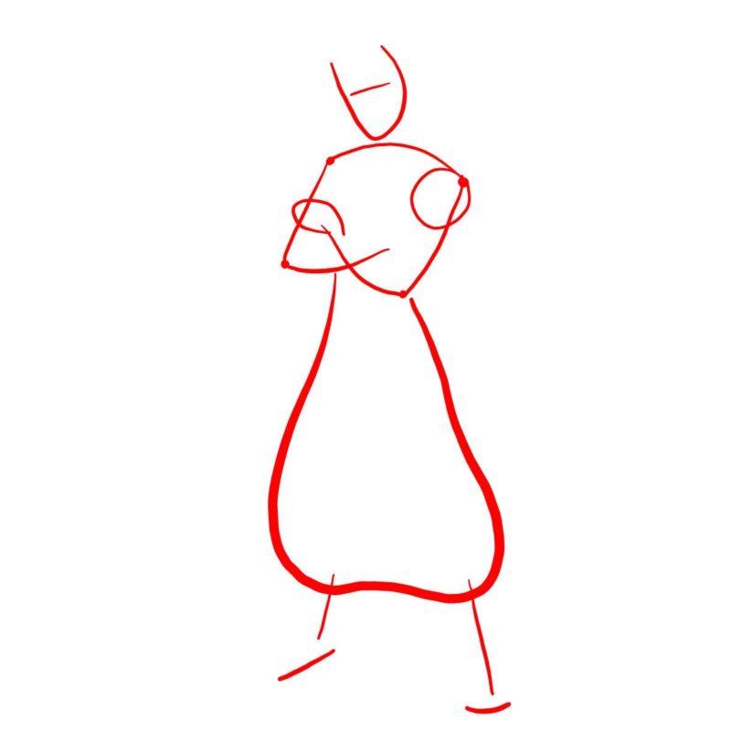 Рисуем поэтапно Аладдина 1
