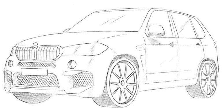 Рисуем BMW X5 0