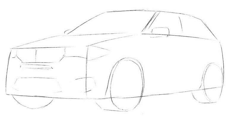Рисуем BMW X5 2