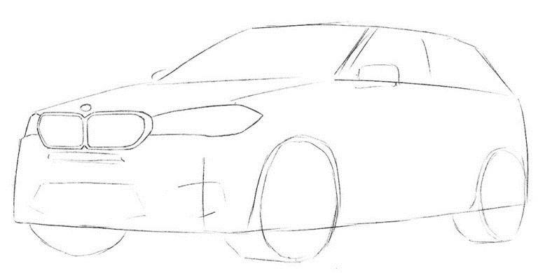 Рисуем BMW X5 3