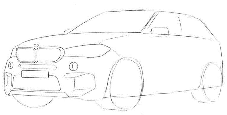 Рисуем BMW X5 4