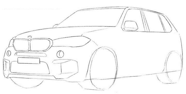 Рисуем BMW X5 5