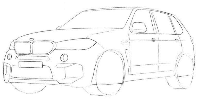 Рисуем BMW X5 6