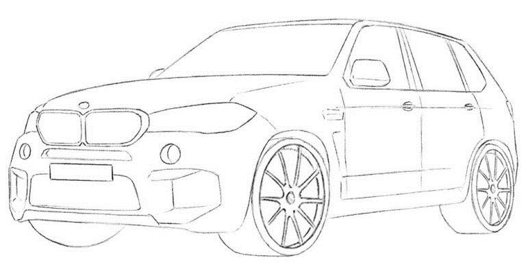 Рисуем BMW X5 7