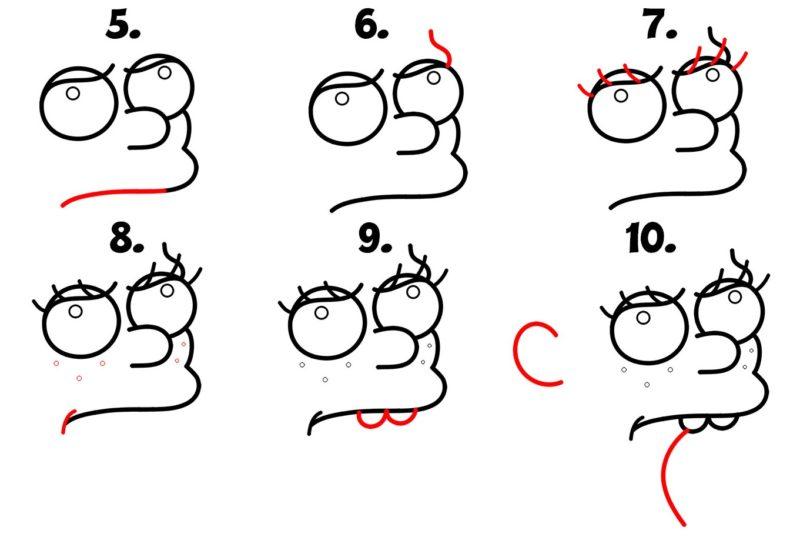 как нарисовать принцессу Бин3