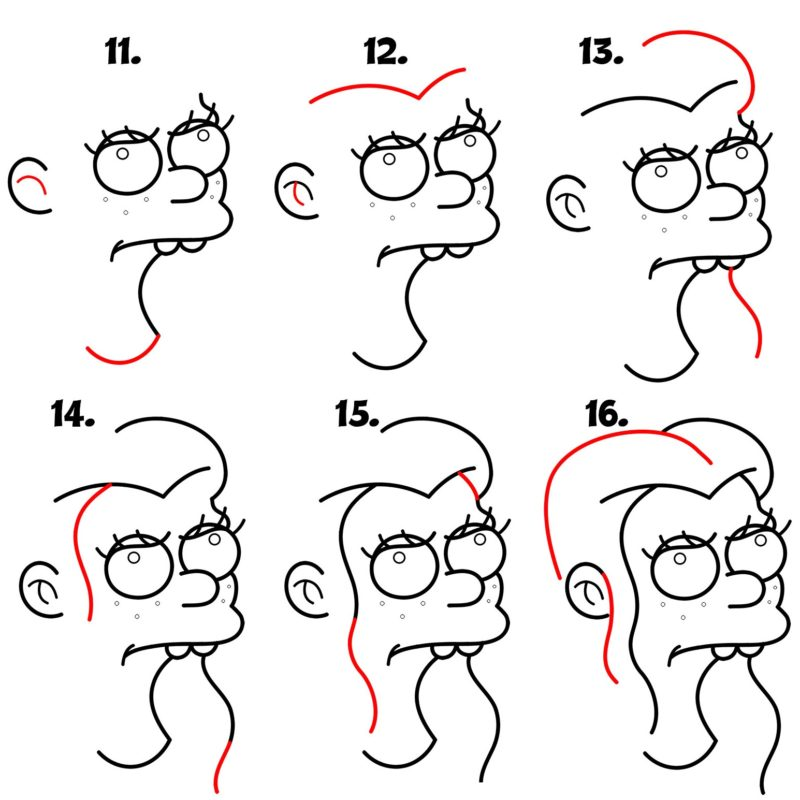 как нарисовать принцессу Бин4