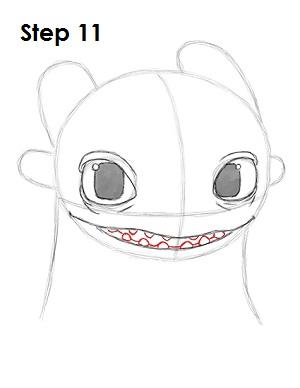Рисуем Беззубика дракона 10