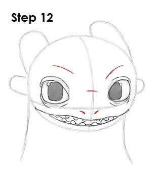 Рисуем Беззубика дракона 11