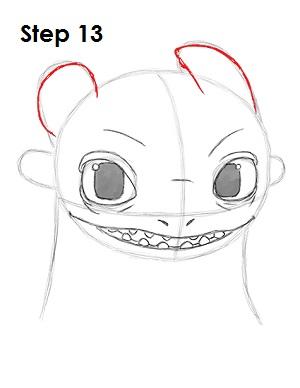 Рисуем Беззубика дракона 12