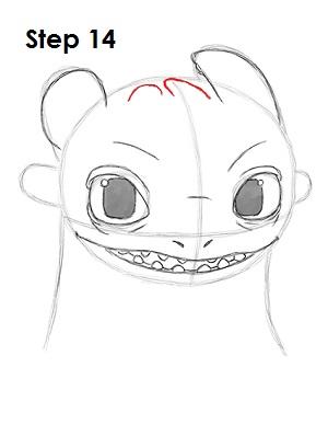 Рисуем Беззубика дракона 13